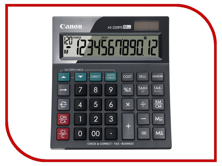 Калькулятор Canon AS-220RTS Black