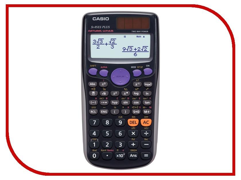 Калькулятор Casio FX-85ESPLUS - двойное питание калькулятор casio fx 570esplus матричный 2 строчный