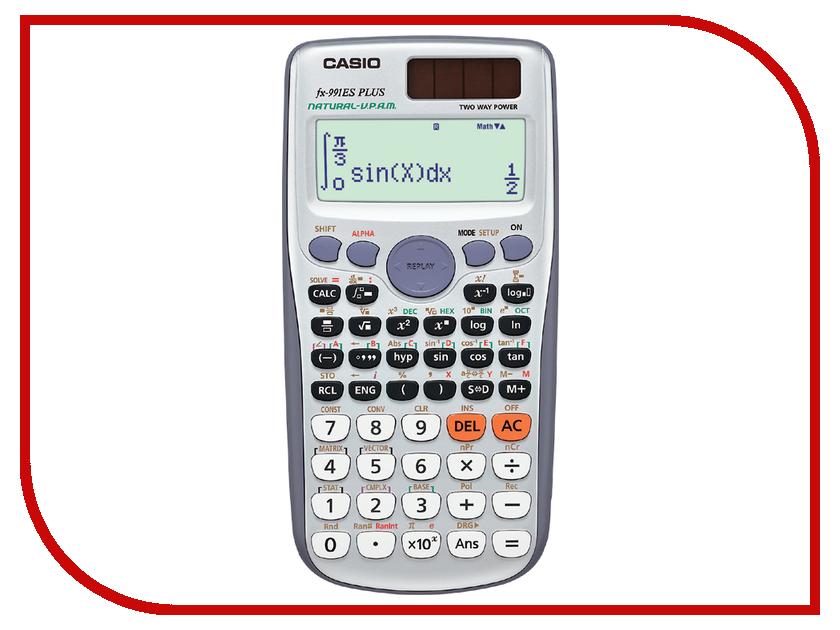 Калькулятор Casio FX-991ESPLUS - двойное питание калькулятор casio fx 991esplus 10 2 разрядный серый
