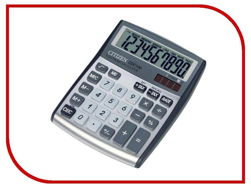 Калькулятор Citizen CDC-100 Grey-White - двойное питание