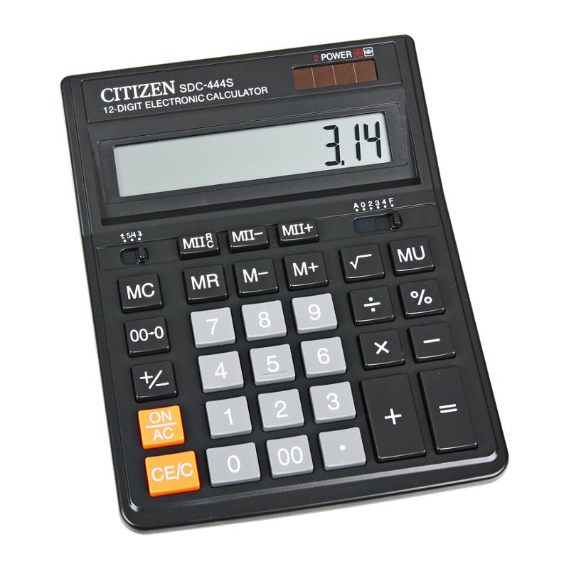 цена на Калькулятор Citizen SDC-444S - двойное питание