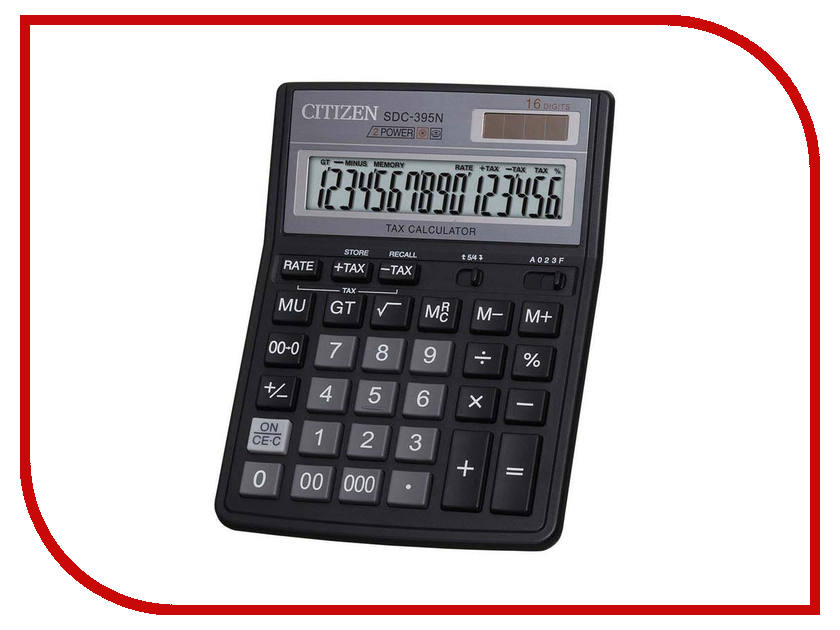 Калькулятор Citizen SDC-395N - двойное питание калькулятор citizen sdc 395n sdc 395 n