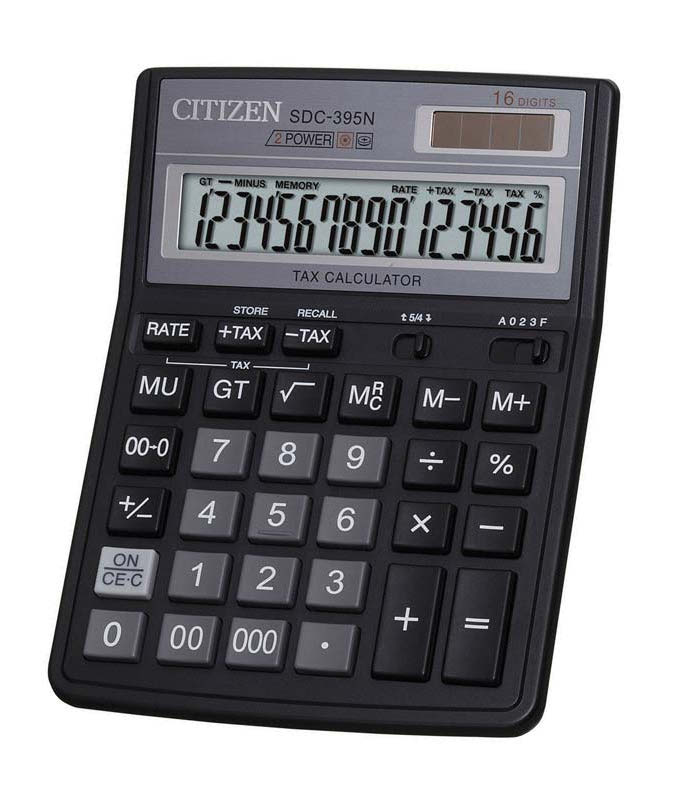 Калькулятор Citizen SDC-395N - двойное питание
