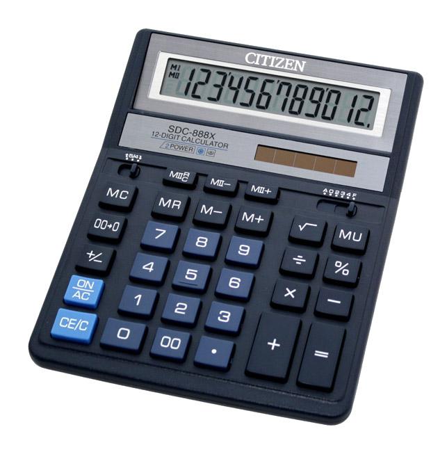 цена на Калькулятор Citizen SDC-888XBL - двойное питание