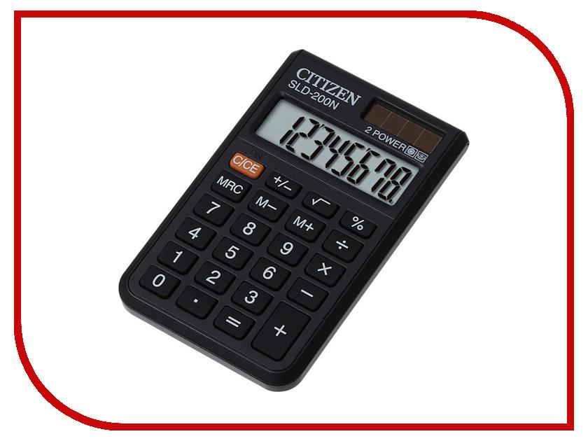 Калькулятор Citizen SLD-200N Black - двойное питание калькулятор citizen sld 100n 8 разрядный черный