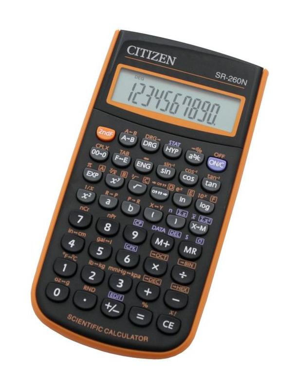 купить Калькулятор Citizen SR-260NOR по цене 637 рублей