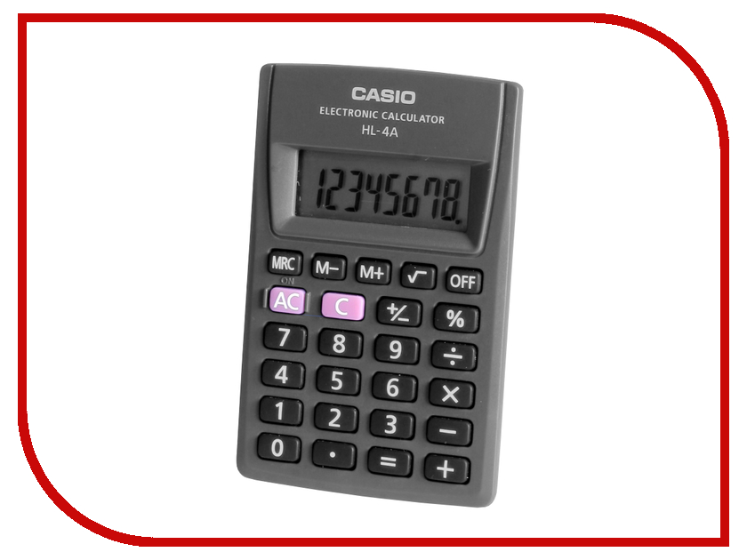 Калькулятор Casio HL-4AS Black