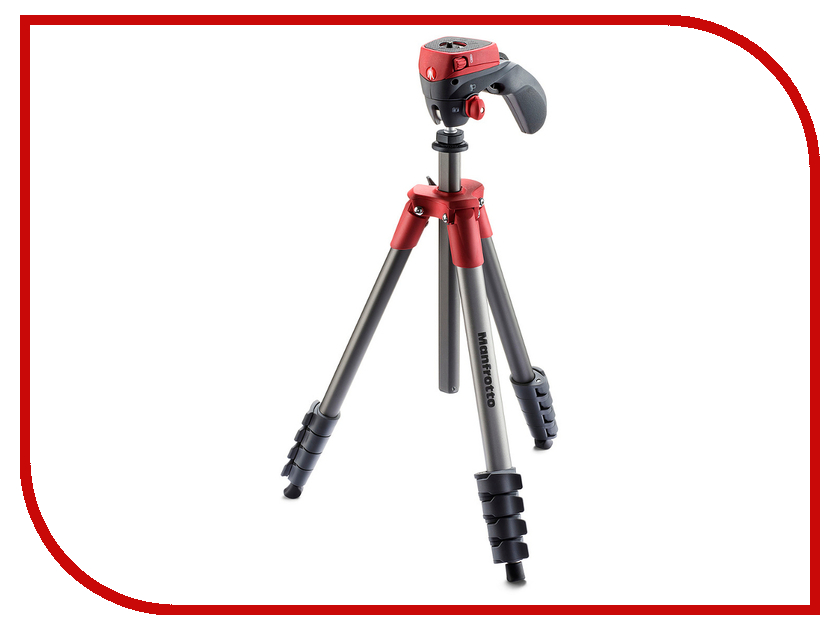 Штатив Manfrotto Compact Action Red MKCOMPACTACN-RD штатив slik compact 8