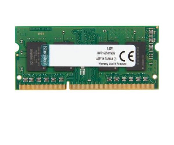 Модуль памяти Kingston DDR3L SO-DIMM 1600MHz PC3-12800 SRx16 1.35V - 2Gb KVR16LS11S6/2