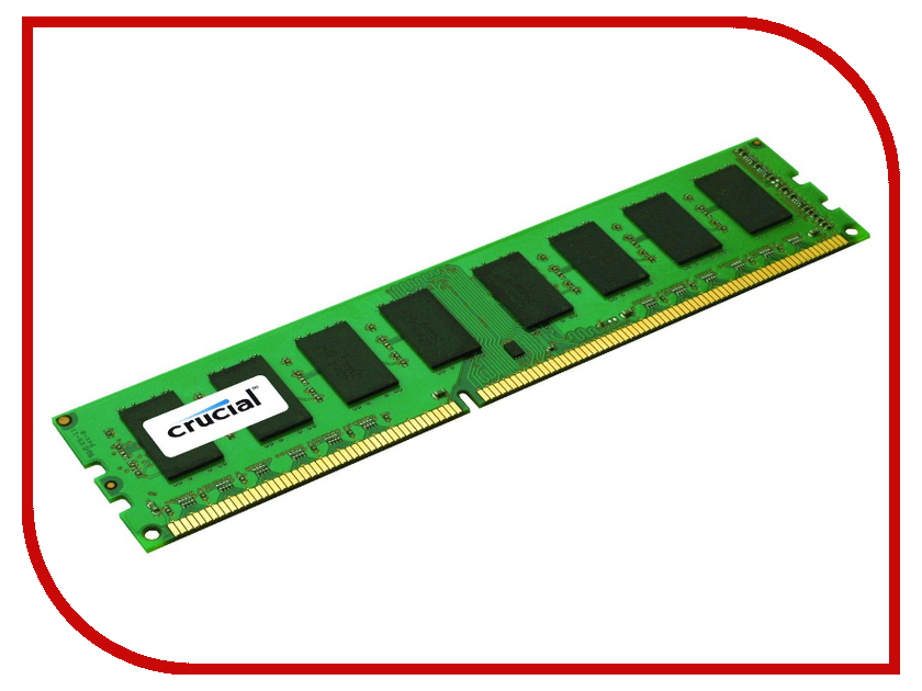 Модуль памяти Crucial DDR3 RDIMM 1600MHz PC3-12800 ECC Reg CL11 - 4Gb CT51272BB160B