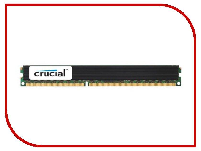 Модуль памяти Crucial DDR3 RDIMM 1600MHz PC3-12800 ECC Reg CL11 DRx8 1.35V VLP - 4Gb CT4G3ERVLD8160B