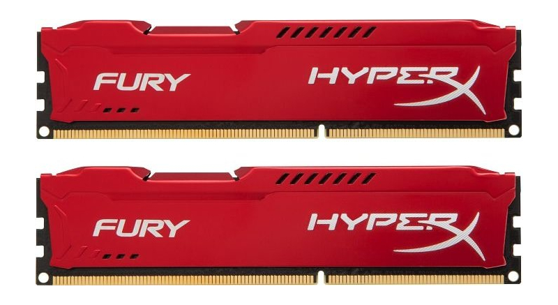 Модуль памяти Kingston HyperX Fury Red Series DDR3 DIMM 1600MHz PC3-12800 CL10 - 16Gb KIT (2x8Gb) HX316C10FRK2/16