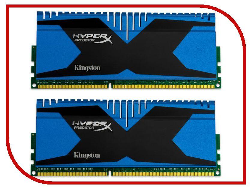 Модуль памяти Kingston HyperX Predator PC3-15000 DIMM DDR3 1866MHz CL10 - 8Gb KIT (2x4Gb) KHX18C10T2K2/8<br>