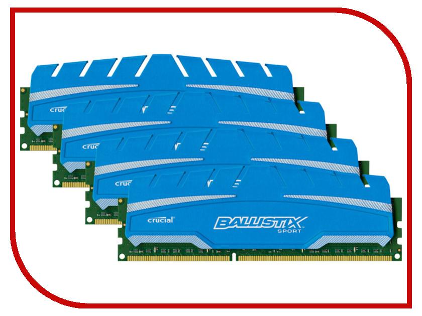 Модуль памяти Crucial Ballistix Sport XT DDR3 DIMM 1866MHz PC3-14900 CL10 - 32Gb KIT (4x8Gb) BLS4C8G3D18ADS3BEU оперативная память crucial ballistix elite ble2kit4g3d1869de1tx0 ddr3 8гб pc3 14900 1866мгц dimm