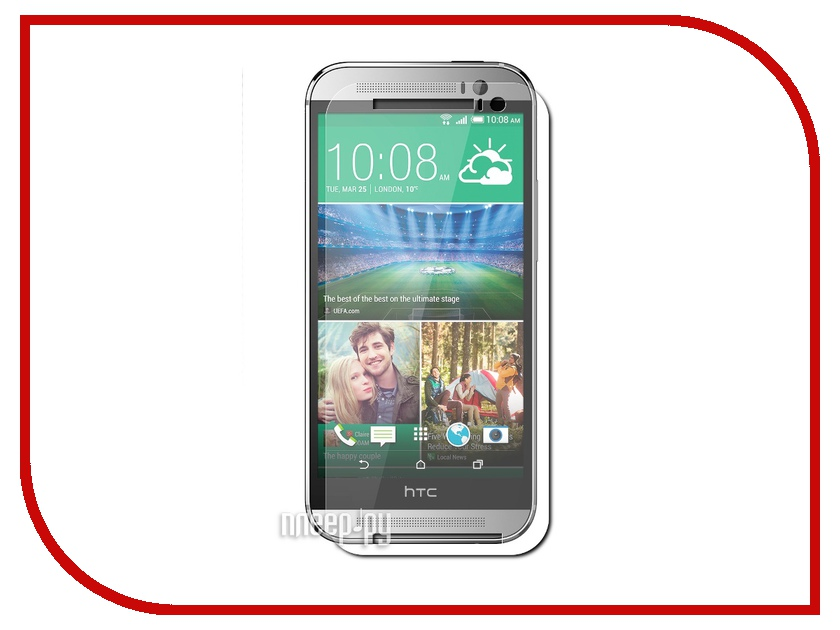 Аксессуар Стекло защитное HTC One M8 Media Gadget Tempered Glass 0.33mm закругленные края TG016<br>