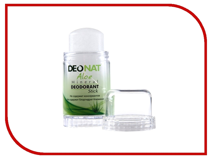 Дезодорант DeoNat кристалл 60г с экстрактом Алоэ