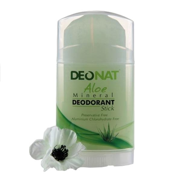 Дезодорант DeoNat кристалл 100г с травами и соком Алоэ плоский