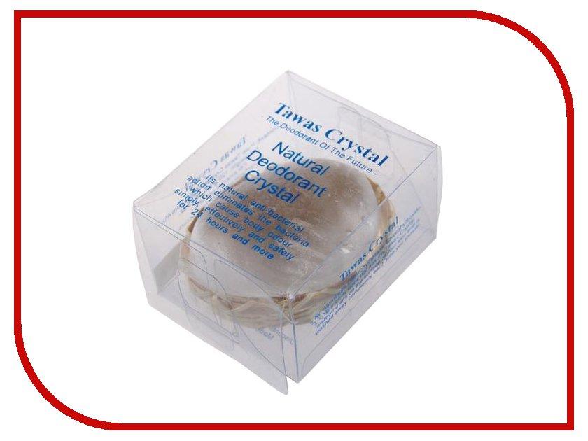 Дезодорант Tawas Crystal кристалл в бамбуковой корзинке и пластиковой коробке 120г