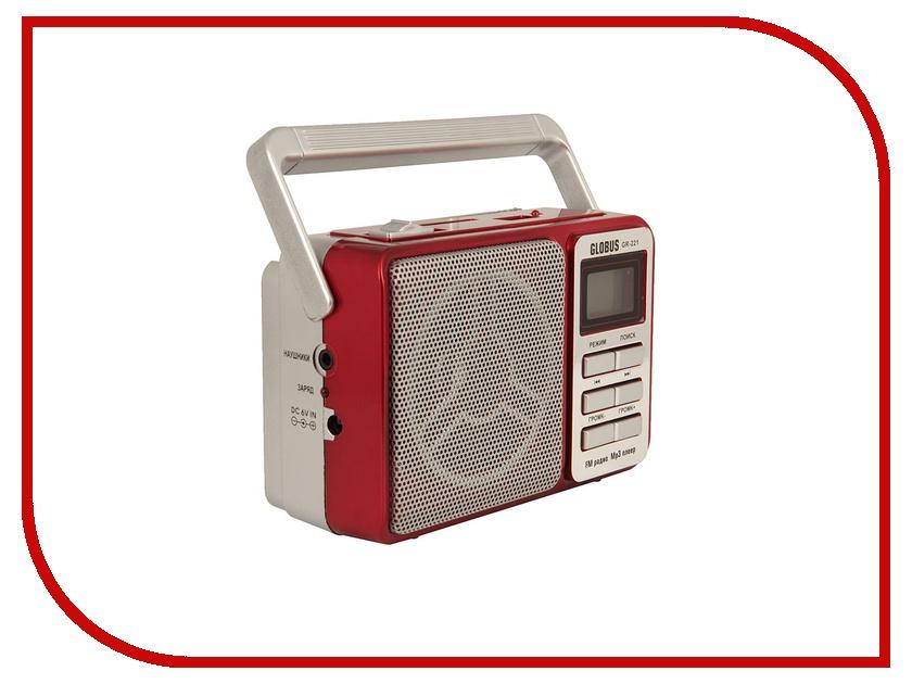 Радиоприемник Globus GR-221 Red