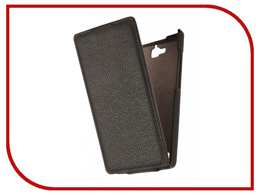 Аксессуар Чехол Huawei Honor 3С Partner Flip-case Black