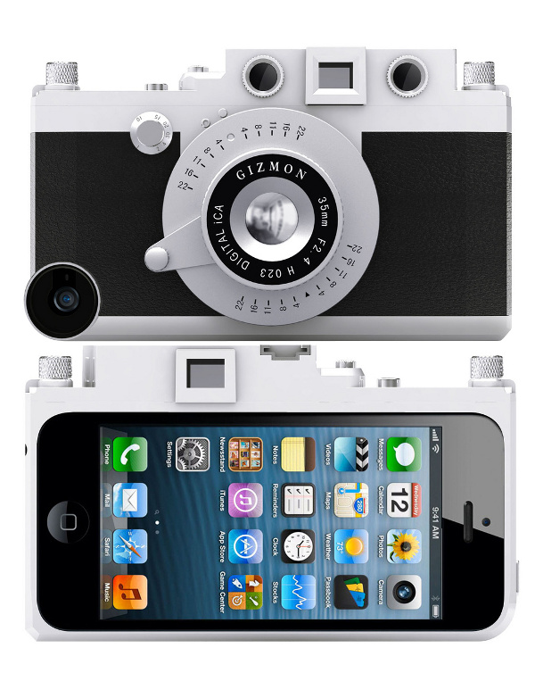 Аксессуар Кейс GIZMON iCA5 for iPhone 5 / 5S Black-Silver 82369