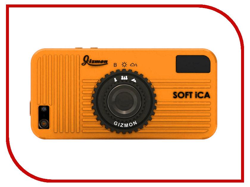 Аксессуар Чехол GIZMON SOFT iCA for iPhone 5 / 5S силиконовый Orange 82380<br>