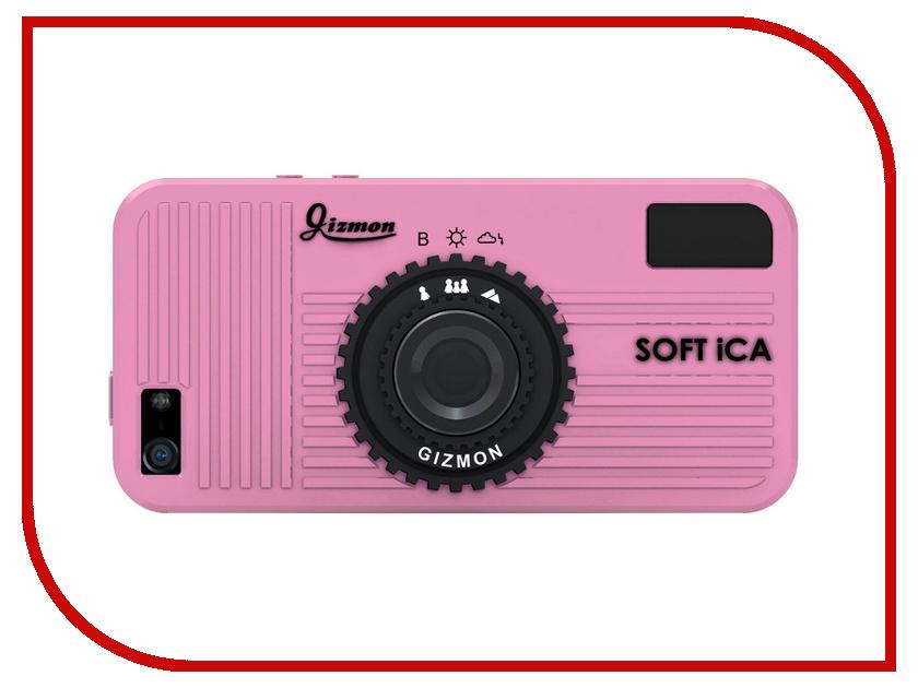 Аксессуар Чехол GIZMON SOFT iCA for iPhone 5 / 5S силиконовый Pink 82381<br>