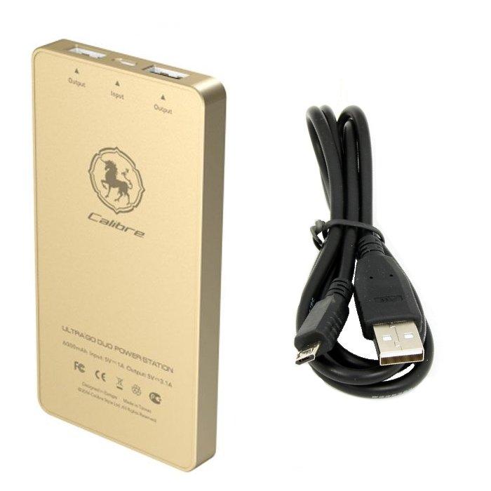 Аккумулятор Calibre Ultra Go DUO 6000 mAh Gold FUDU060G0