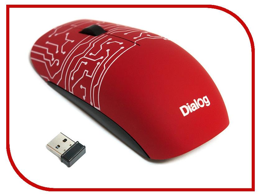 Мышь беспроводная Dialog Katana MROK-13U Red USB