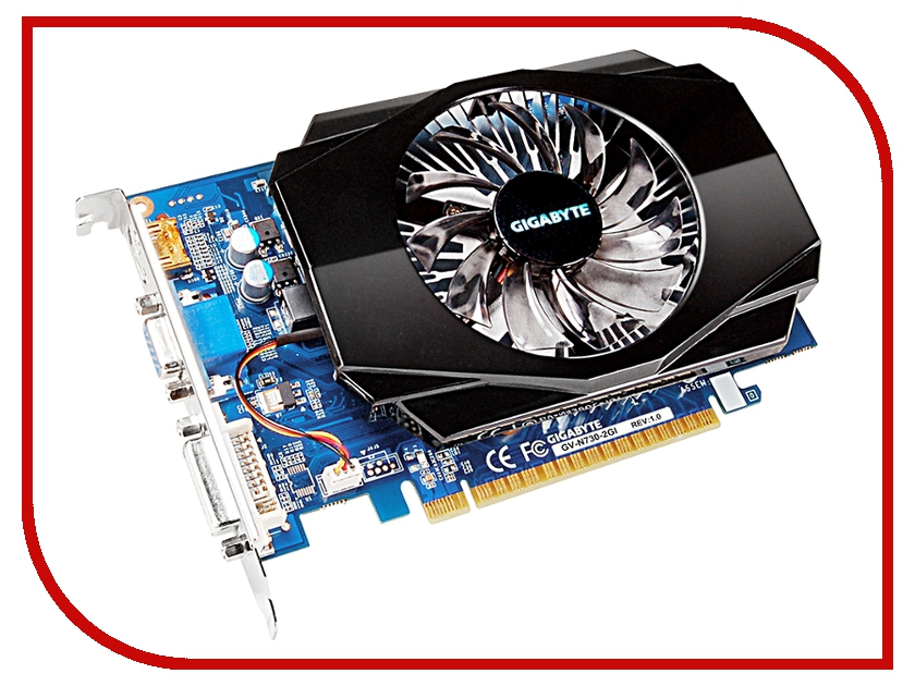 Видеокарта GigaByte GeForce GT 730 700Mhz PCI-E 2.0 2048Mb 1600Mhz 128 bit DVI HDMI HDCP GV-N730-2GI видеокарта 2048mb gigabyte gt710 pci e gddr5 64bit hdmi dvi gv n710d5 2gl retail