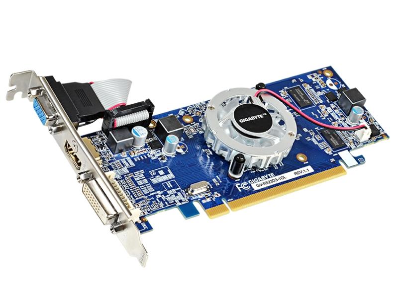 Видеокарта GigaByte Radeon R5 230 625Mhz PCI-E 2.1 1024Mb 1066Mhz 64 bit DVI HDMI HDCP GV-R523D3-1GL<br>