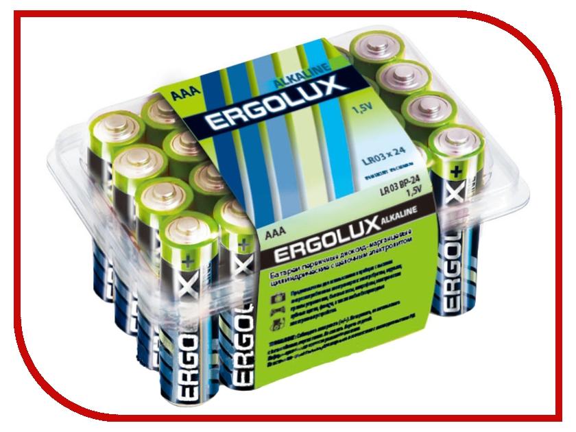 Батарейка AAA - Ergolux Alkaline LR03 BP-24 (24 штуки)<br>