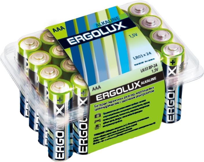 Батарейка AAA - Ergolux Alkaline LR03 BP-24 (24 штуки)