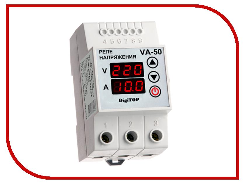 Реле контроля напряжения Digitop VA-50 реле напряжения v protector 40a