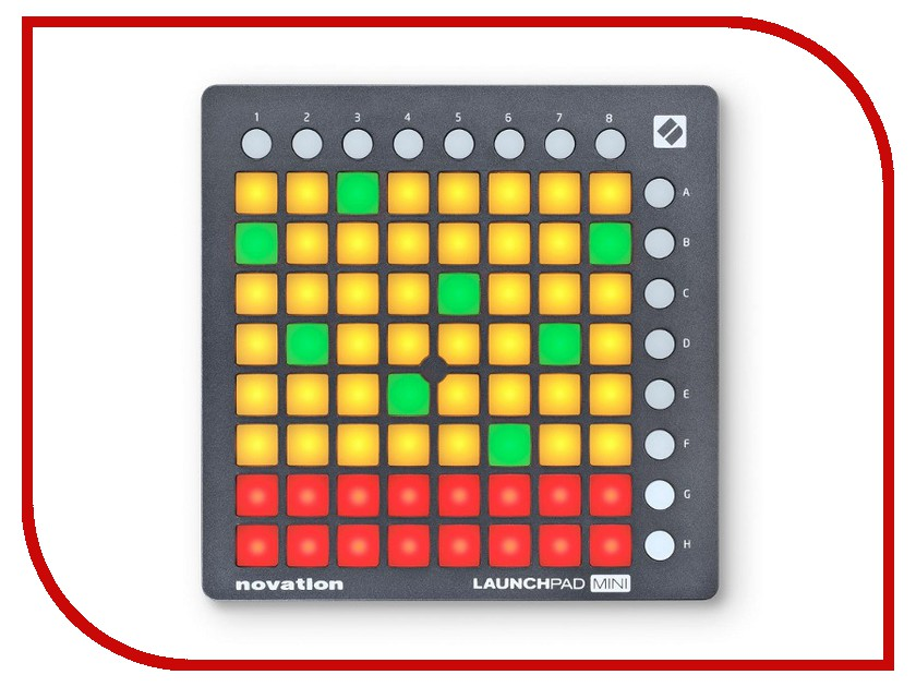 MIDI-контроллер Novation LaunchPad Mini MK II novation launchkey 49 mk2