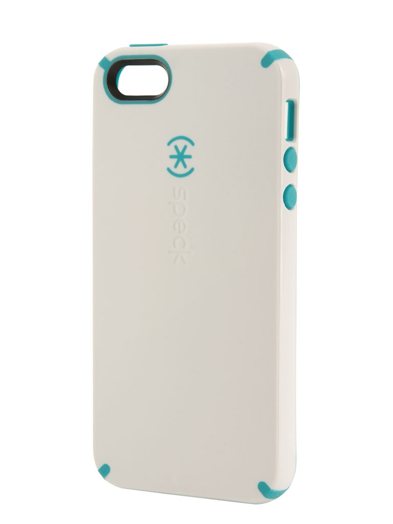 Аксессуар Speck CandyShell for iPhone 5 / 5S White/Peacock Blue SPK-A0478