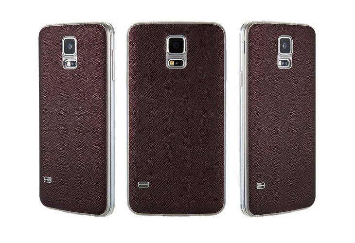 Аксессуар Чехол-накладка Samsung G900F Galaxy S5 Anymode Skinny Cover Brown F-DMSK000KBR