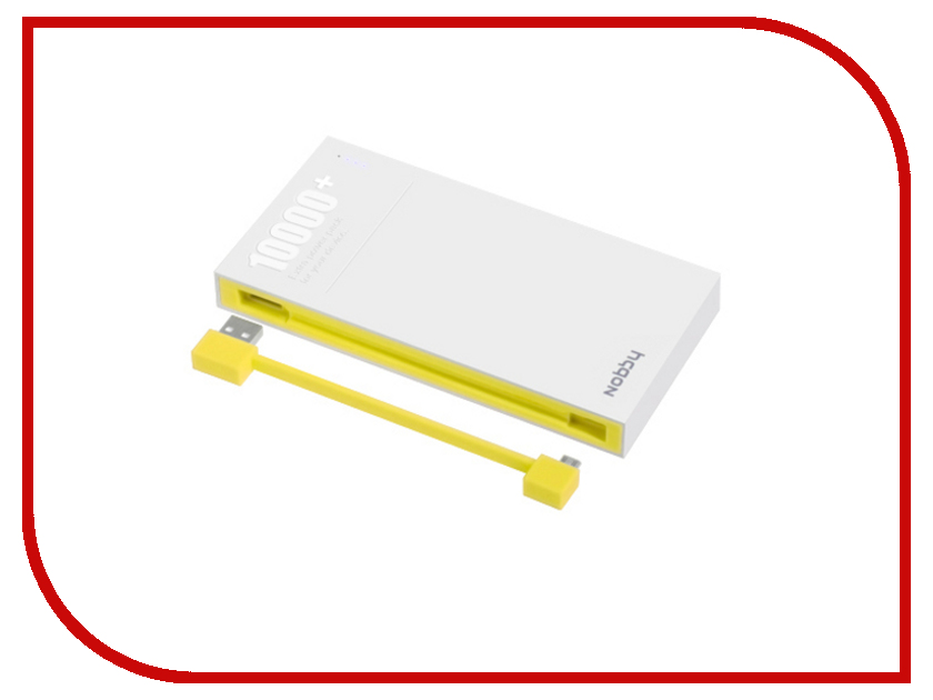 Аккумулятор Nobby Energy PB-003 10000 mAh Yellow<br>