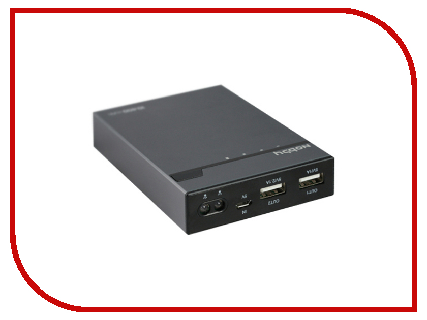 Аккумулятор Nobby Energy PB-004 2 USB 13000 mAh Aluminum Black<br>