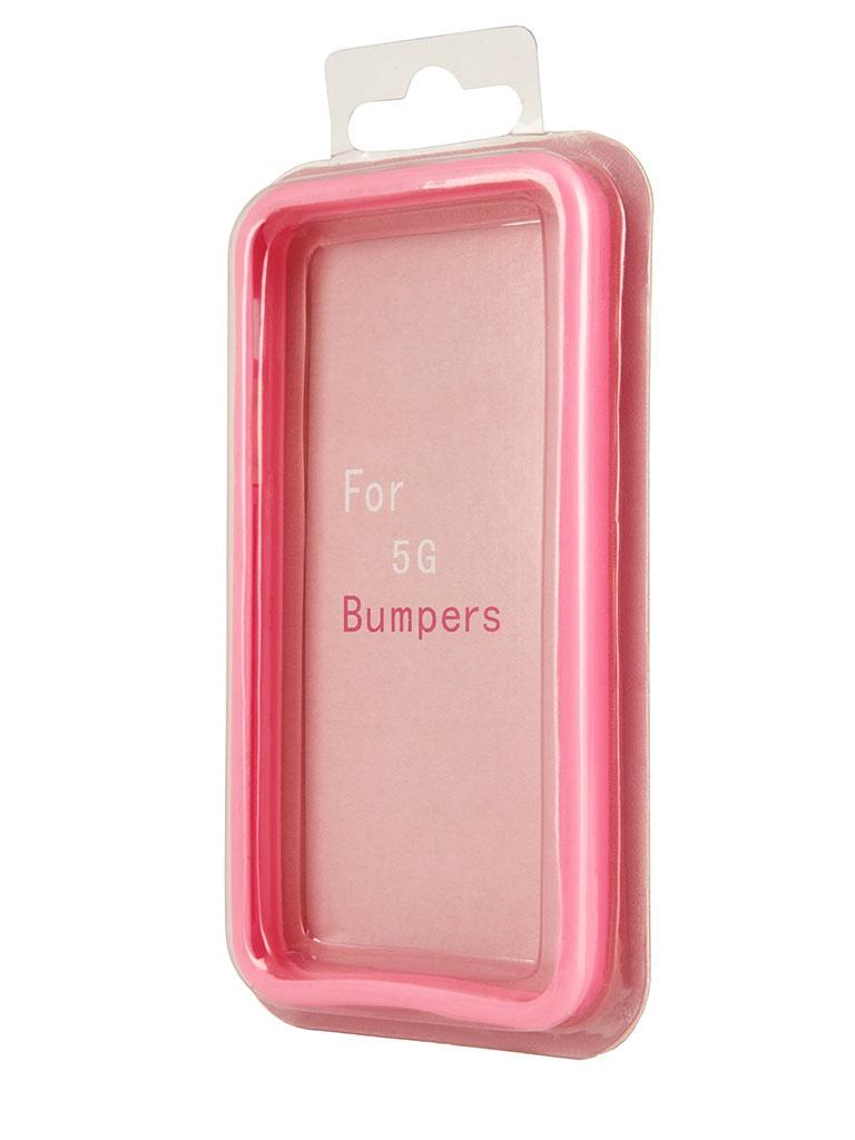 Аксессуар Чехол-бампер Rexant for iPhone 5 / 5S Pink 40-0004