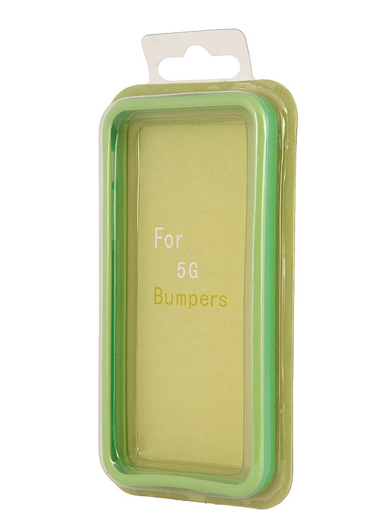 Аксессуар Чехол-бампер Rexant for iPhone 5 / 5S Green 40-0005