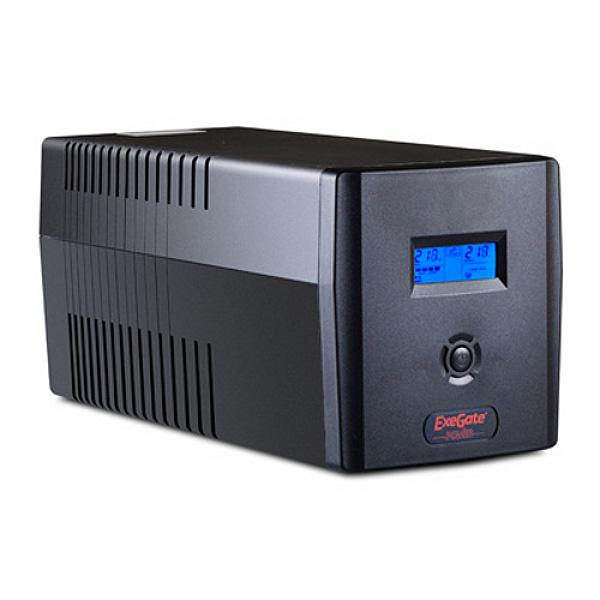 Источник бесперебойного питания ExeGate Smart LCD 1500VA 900W Black ULB-1500