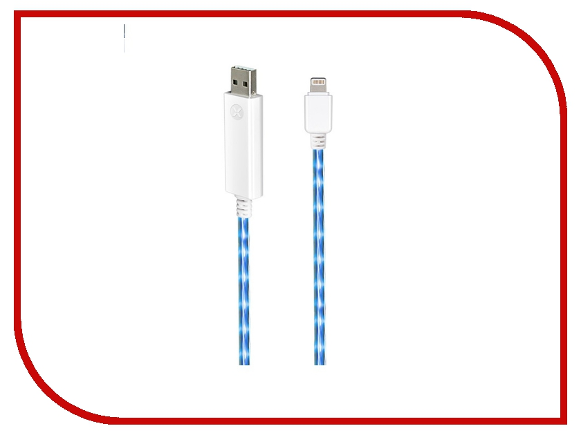 Аксессуар Rexant USB Lightning для iPhone 5 1m Blue 18-0181<br>