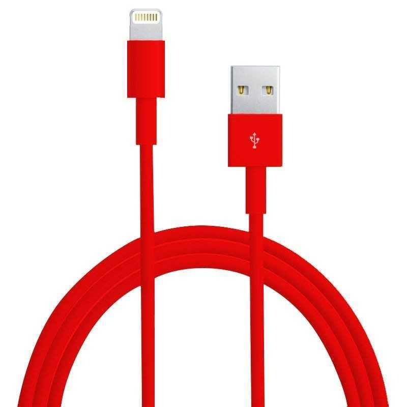 Аксессуар Rexant USB for iPhone 5 1m Red 18-1128