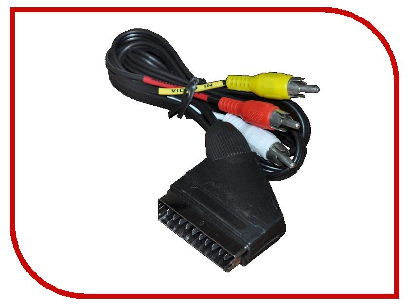 Аксессуар Rexant SCART х 3 RCA 1m 17-0201-7 аксессуар rexant 1 x 2 50mm2 100m green 01 6543