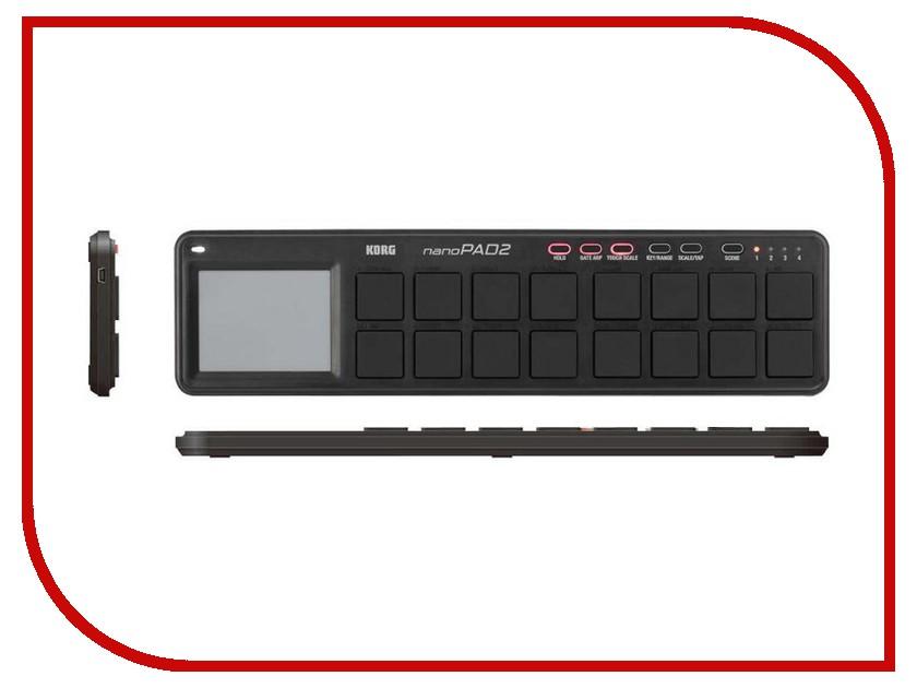 купить MIDI-контроллер KORG nanoPAD2 Black недорого