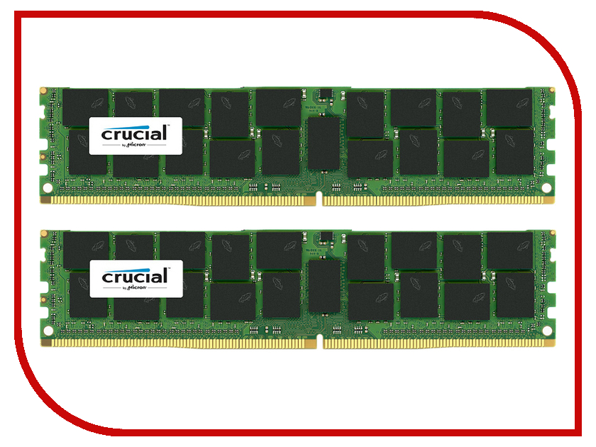 Модуль памяти Crucial DDR4 DIMM 2133MHz PC4-17000 ECC Reg 1.2V CL15 - 32Gb KIT (2x16) CT2K16G4RFD4213<br>