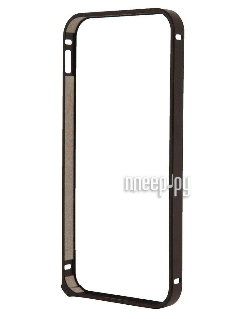 Аксессуар Чехол-бампер Deppa Alum Bumper for iPhone 5 / 5S Black 63133