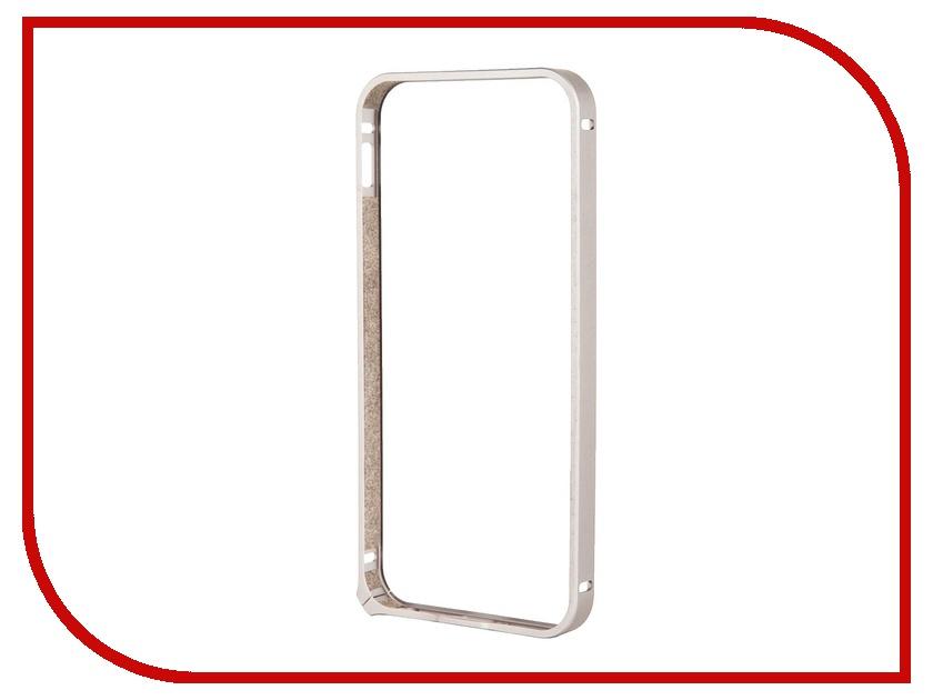 Аксессуар Чехол-бампер Deppa Alum Bumper для iPhone 5 / 5S Silver 63134<br>
