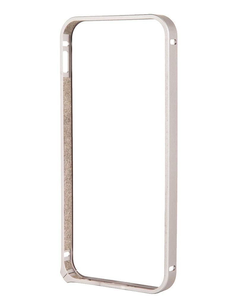 Аксессуар Чехол-бампер Deppa Alum Bumper for iPhone 5 / 5S Silver 63134